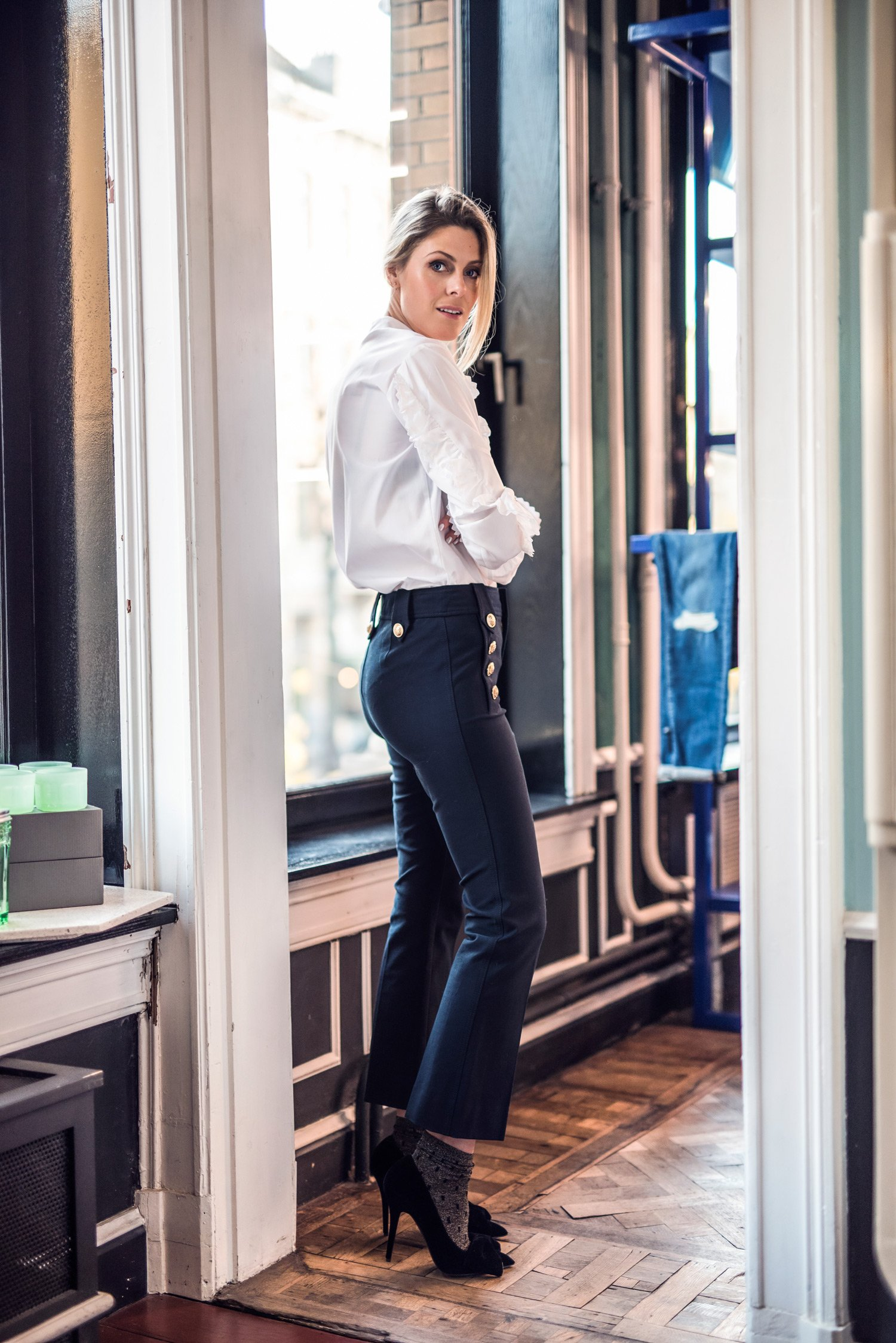 64fbdee2fa7321 There was a time when socks plus pumps plus cropped trousers equalled major  fashion disaster, but we're happy we're passed that. Showing your ankles in  ...