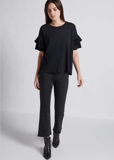 black-ruffle-tshirt