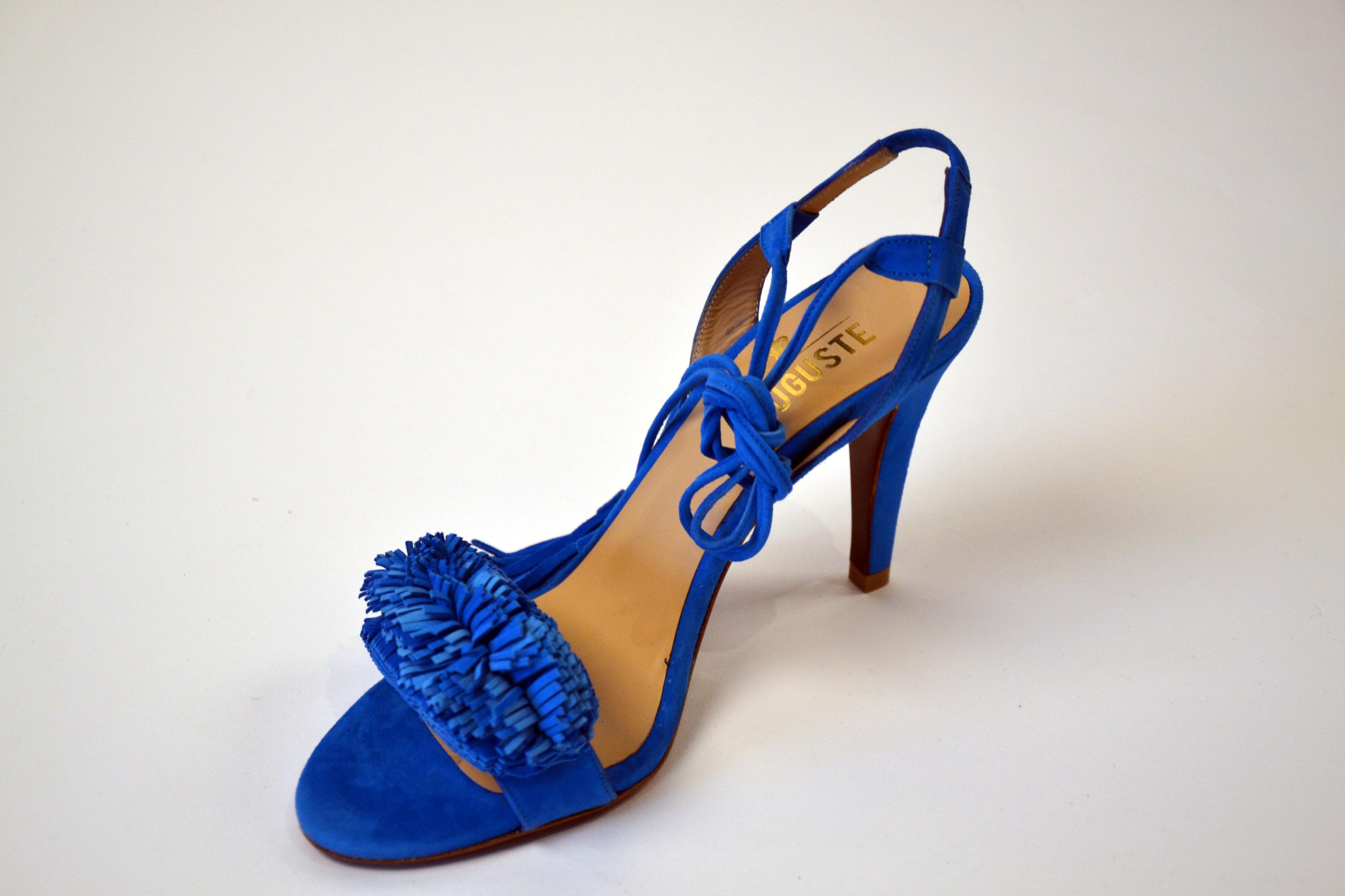 Auguste Fringe Sandals Blue Enes