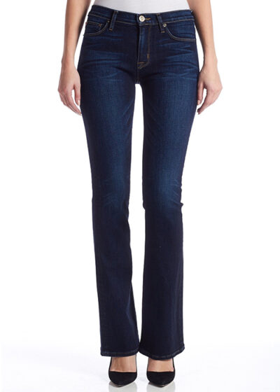 jeans donker blauw hoge taille