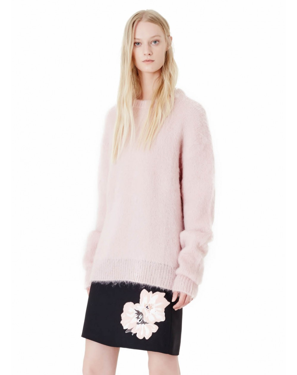 Carven mohair soft pink sweater - Enes