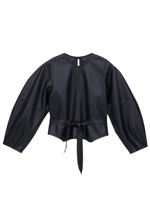 7a5be13ecfa292 NANUSHKA VEGAN LEATHER BLOUSE. Touch to zoom