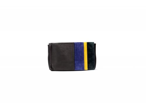 Melia striped clutch