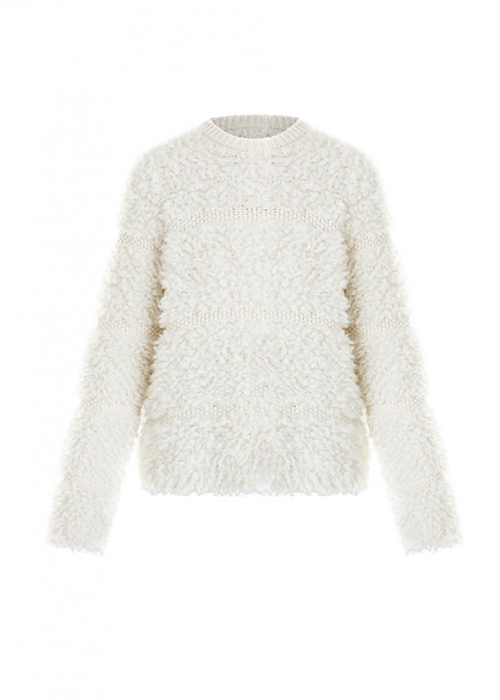Carven white fluffy sweater - Enes