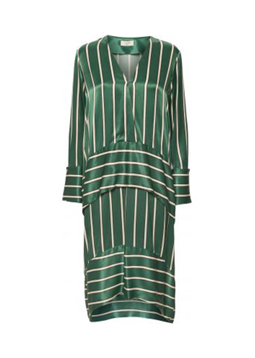 NORR GREEN STRIPED DRESS