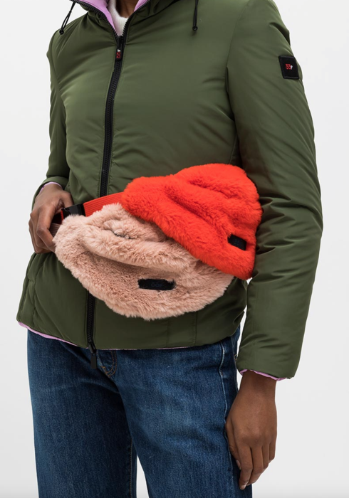 OOF RED FUR BELT BAG