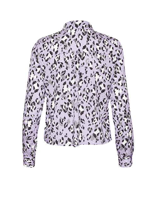GESTUZ PURPLE LEOPARD BLOUSE