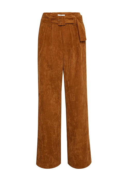 GESTUZ WIDE LEG CAMEL TROUSERS