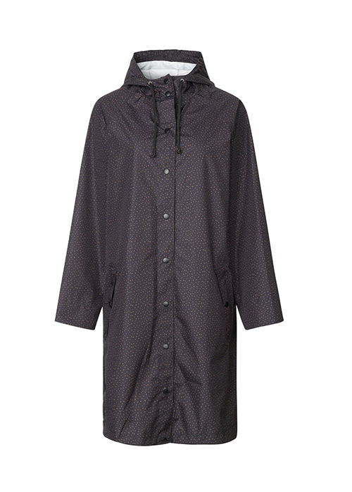 BACKSONDERGAARD BLACK RAINCOAT WITH DOTS