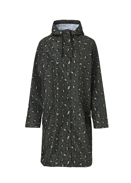 BACKSONDERGAARD LEOPARD RAINCOAT