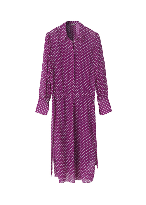 BY MALENE BIRGER PURPLE PRINTED DRESS