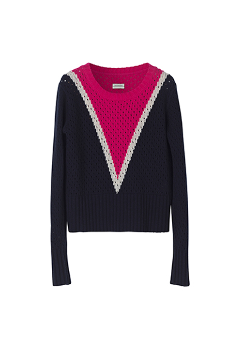 BY MALENE BIRGER PINK/BLUE PULLOVER