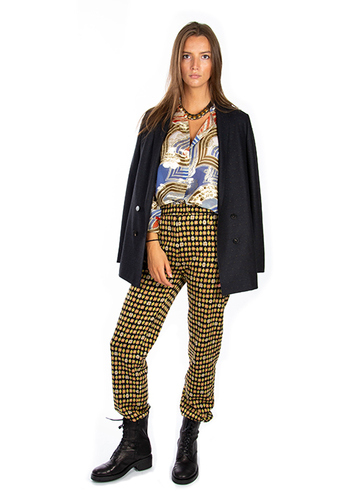PAUL & JOE GOLD PRINTED TROUSERS