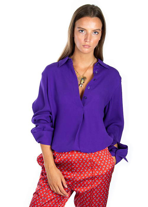 JOSEPH PURPLE BLOUSE