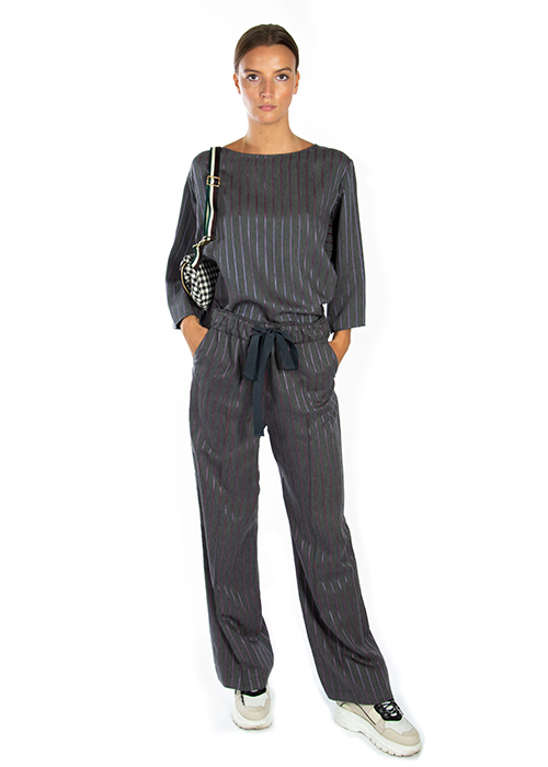 ALYSI STRIPED TROUSERS