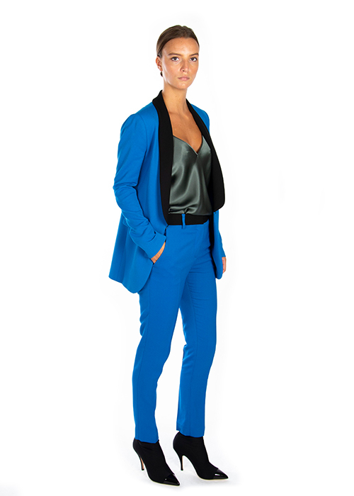 MSGM BLUE TROUSERS