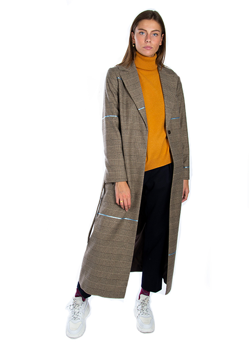 OPPORTUNO LONG CHECKED COAT