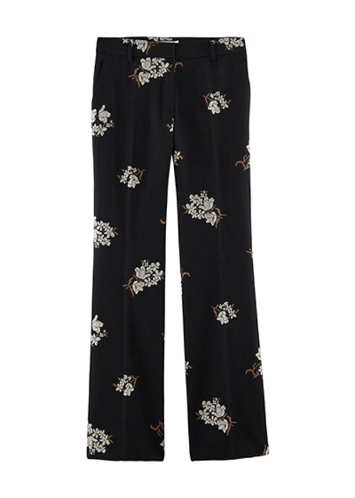 PAUL&JOE BLACK PRINTED PANTS