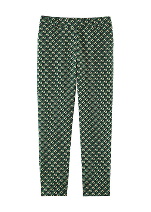 PAUL&JOE GREEN PRINTED PANTS