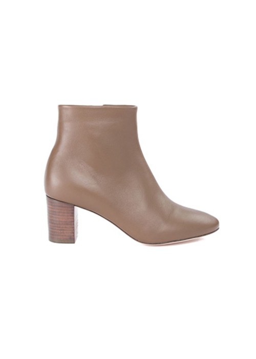 MOROBE BROWN LEATHER ANKLE BOOT