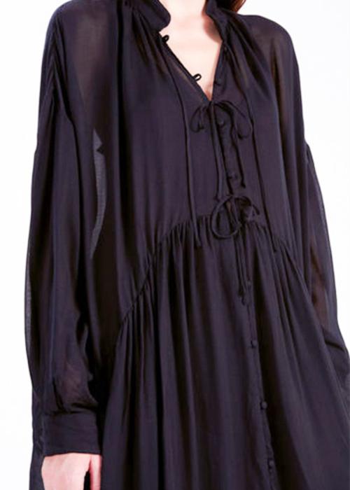 IRO BLACK OVERSIZED DRESS