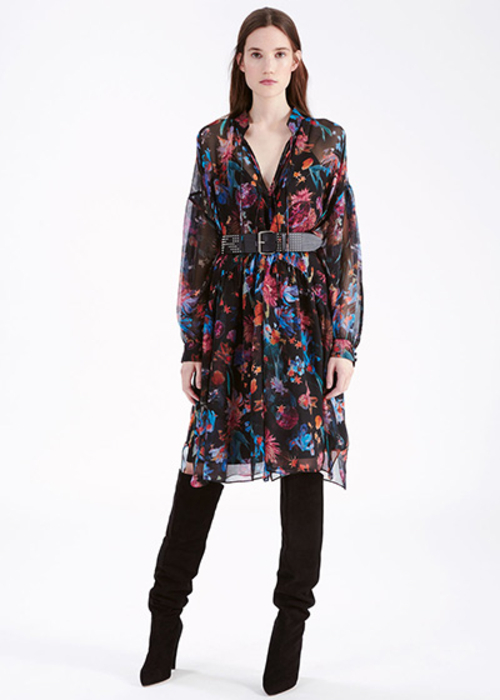 IRO FLORAL PRINTED DRESS