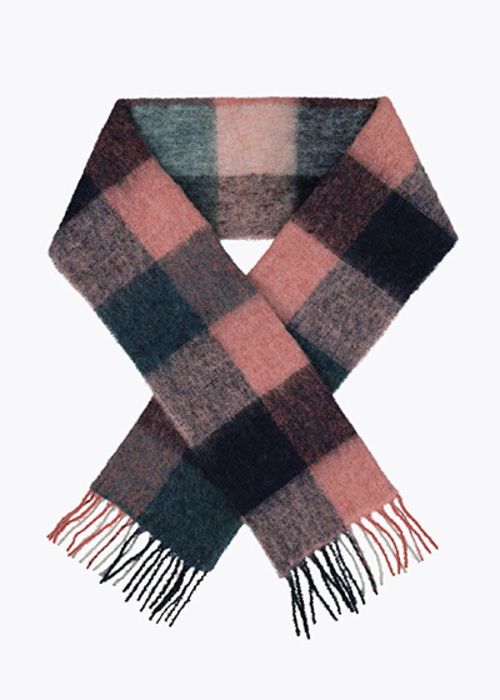 HOLZWEILER CHECKED PINK SCARF