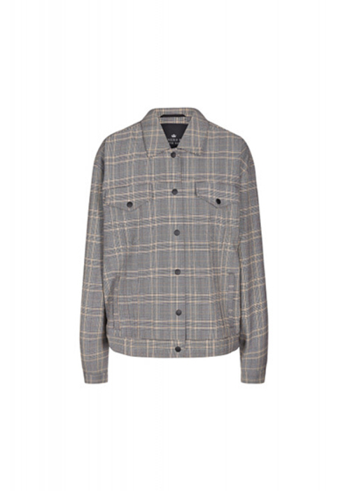 DESIGNERS REMIX GREY CHECKED JACKET