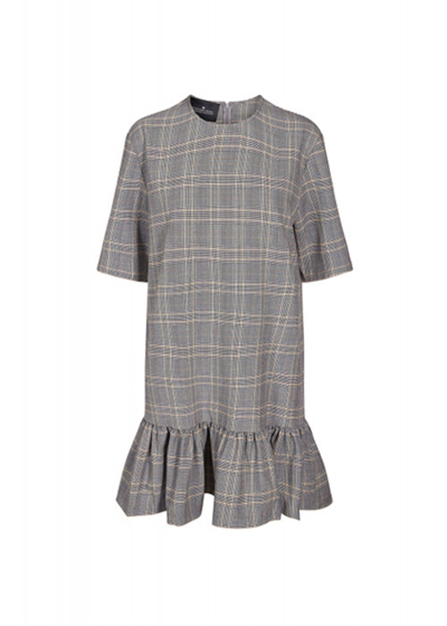 DESIGNERS REMIX GREY CHECKED DRESS