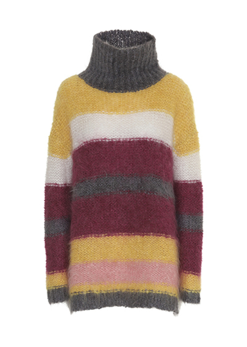 CUSTOMMADE STRIPED TURTLENECK