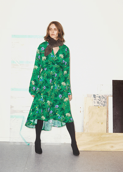 GRAUMANN FLORAL PRINTED DRESS