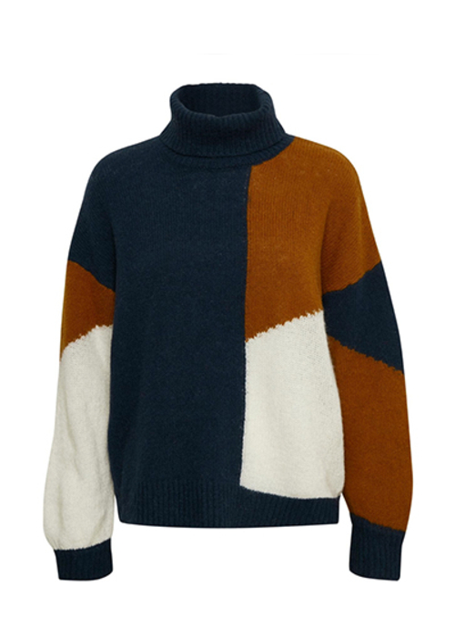 GESTUZ TRICOLOR TURTLENECK