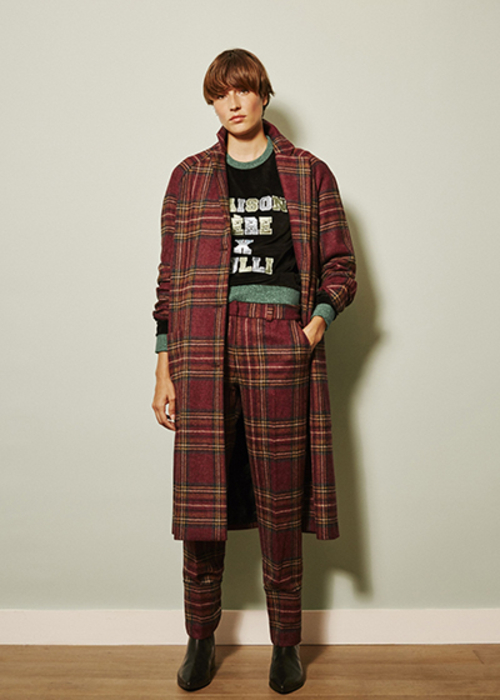 MAISON PERE CHECKED COAT