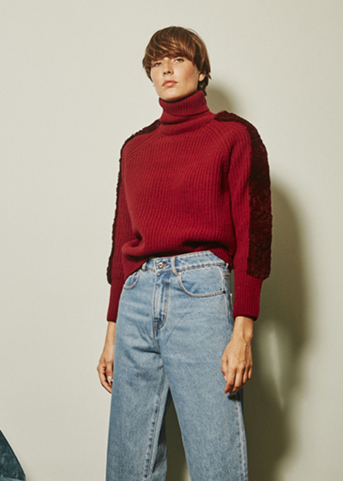 MAISON PERE RED TURTLENECK