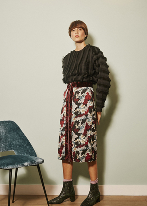MAISON PERE PRINTED SKIRT
