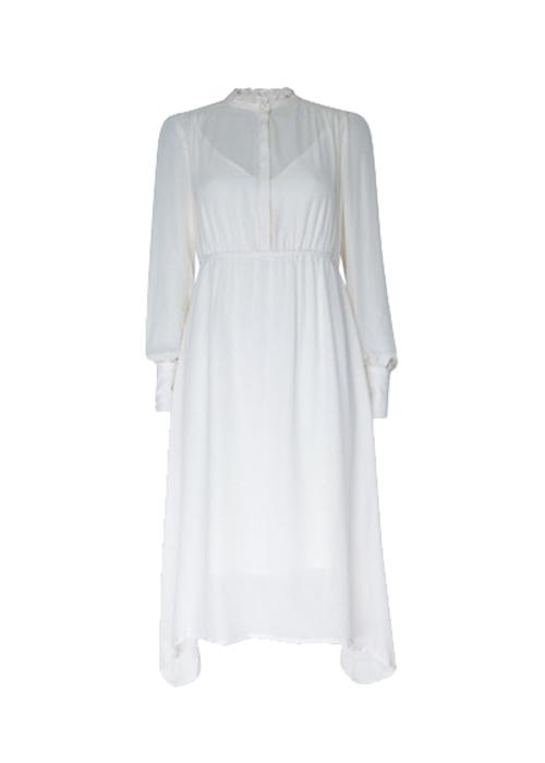 BAUM UND PFERDGARTEN WHITE SILK DRESS
