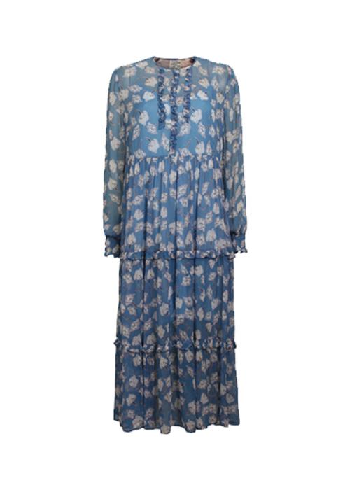 BAUM UND PFERDGARTEN PRINTED BLUE DRESS