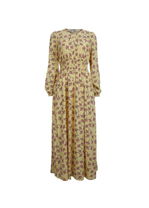BAUM UND PFERDGARTEN YELLOW FLOWER MAXI DRESS