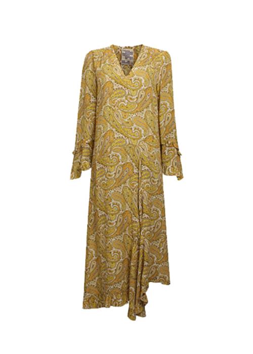 BAUM UND PFERDGARTEN YELLOW PRINTED MAXI DRESS
