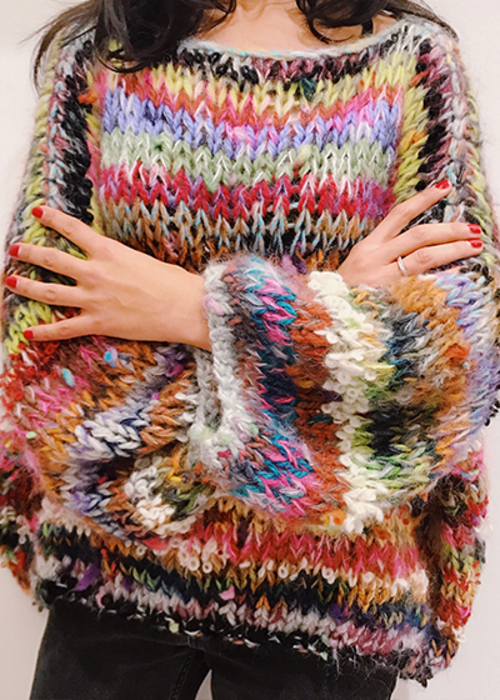 E WITH LOVE MULTI STRIPED JUMPER