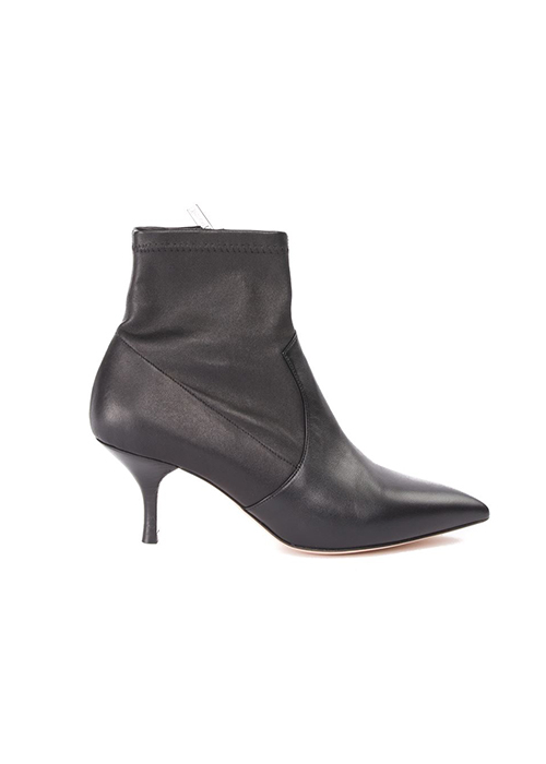 MOROBE BLACK LEATHER STRETCH BOOT