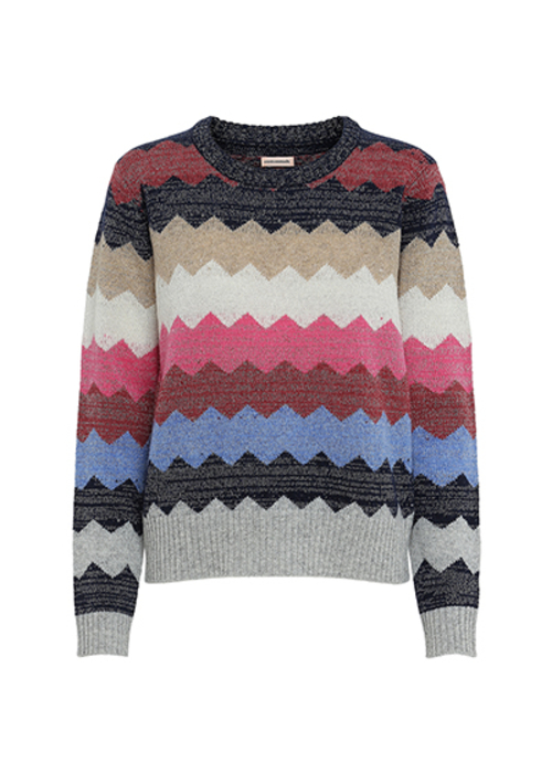 CUSTOMMADE MULTI STRIPED PULLOVER