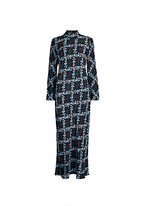 RIXO BLACK FLORAL DRESS