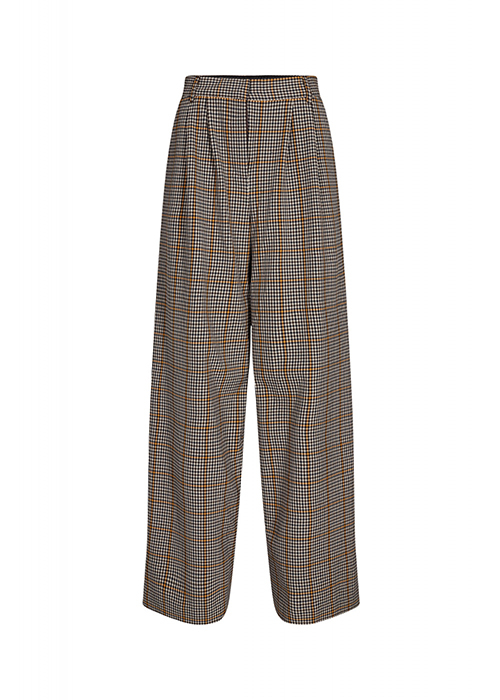 DESIGNERS REMIX CHECKED CAMEL PANTS