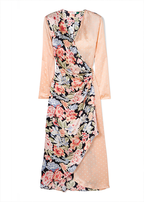 RIXO FLORAL AND  PEARL DRESS