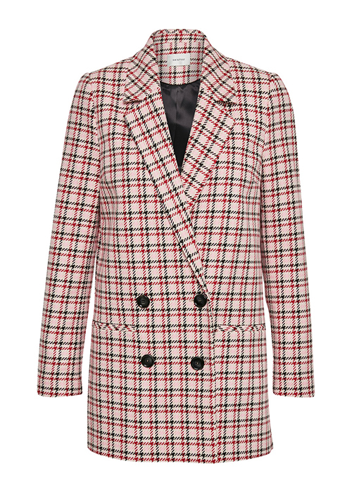 GESTUZ RED CHECKED BLAZER