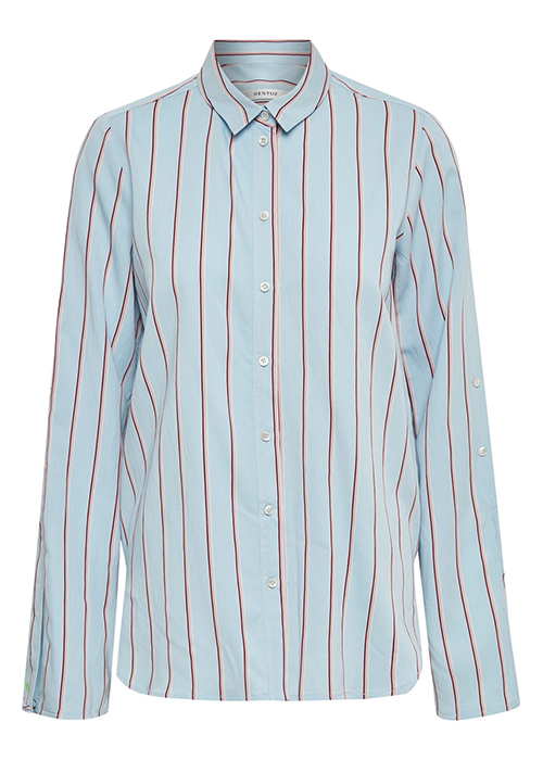 GESTUZ BLUE STRIPED BLOUSE