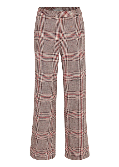 GESTUZ RED CHECKED PANTS