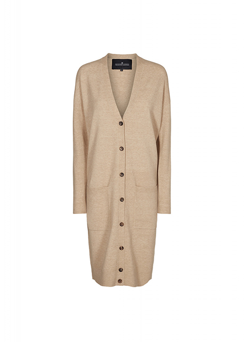 DESIGNERS REMIX LONG CAMEL CARDIGAN