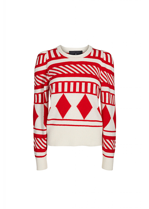 DESIGNERS REMIX RED/WHITE KNIT